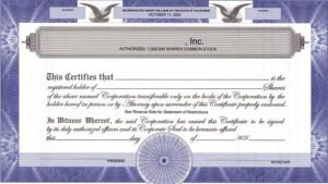 Issue of Share Certificate