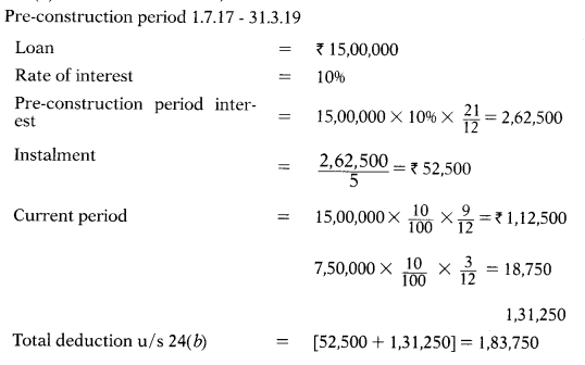 Computation of Income Under Various Heads - CS Executive Tax Laws MCQ 10