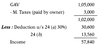 Computation of Income Under Various Heads - CS Executive Tax Laws MCQ 22