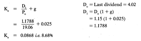 Cost of Capital – Financial Management MCQ 49