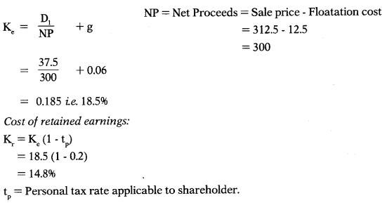 Cost of Capital – Financial Management MCQ 68