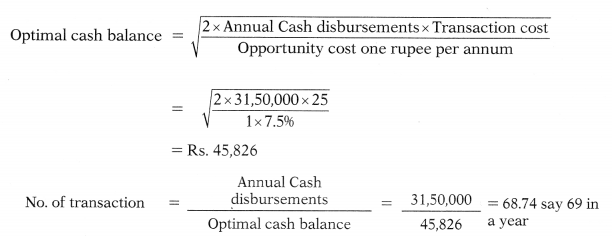 Management of Cash and Marketable Securities – Financial Management MCQ 24