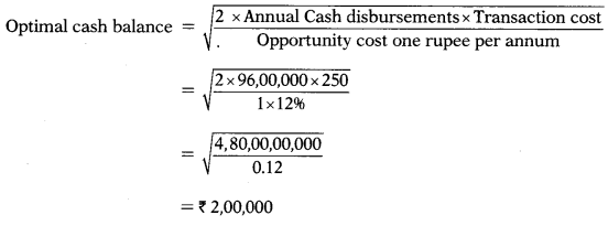 Management of Cash and Marketable Securities – Financial Management MCQ 5