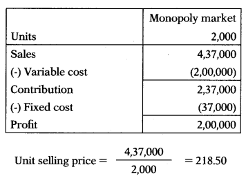 Marginal Costing – Corporate and Management Accounting MCQ 56