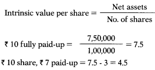 Valuation of Goodwill & Shares – Corporate and Management Accounting MCQ 41