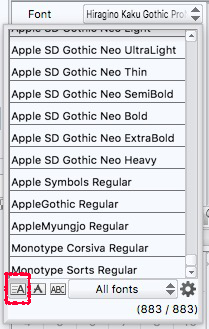 Choosing a font in the Clip Studio Pain default style