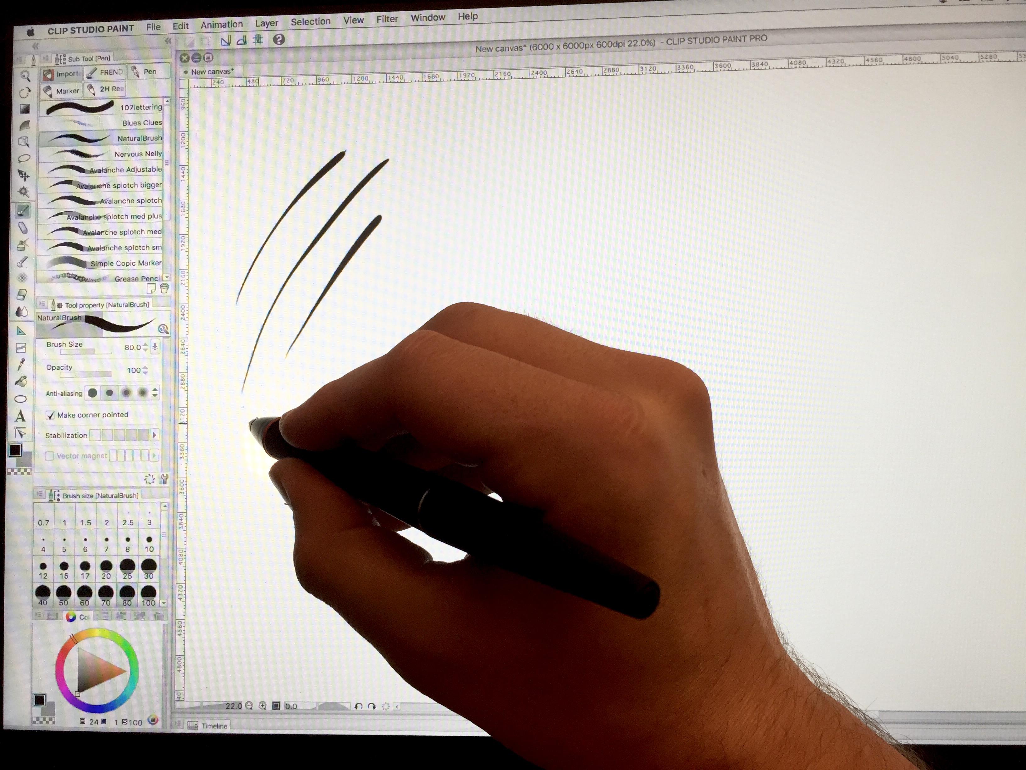 wacom intuos manga clip studio paint pro