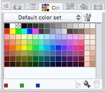 Clip Studio Paint Color Set options