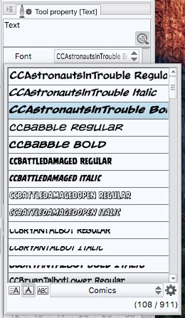 Finding Fonts Easier With Font Lists - Learn Clip Studio Paint