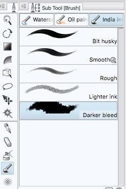 Clip Studio Paint Brush Tool