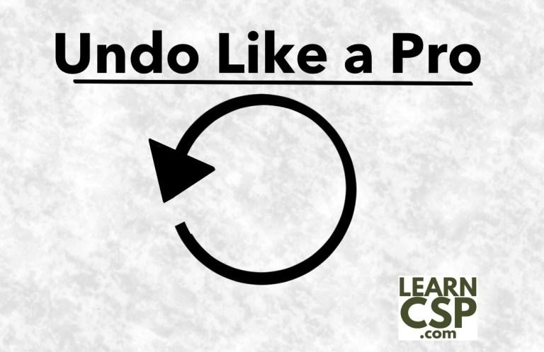 Undo Like a Pro