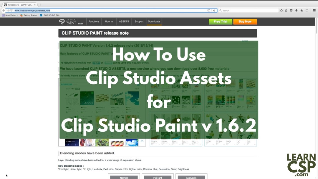 clip studio paint install materials