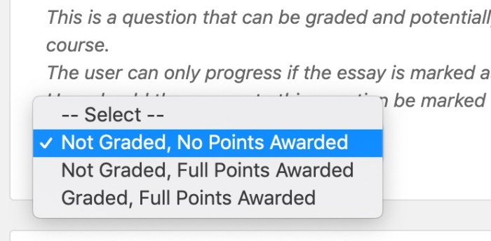 LearnDash grading options for essay questions