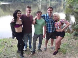 "On the set of ""Harvest Lake"""