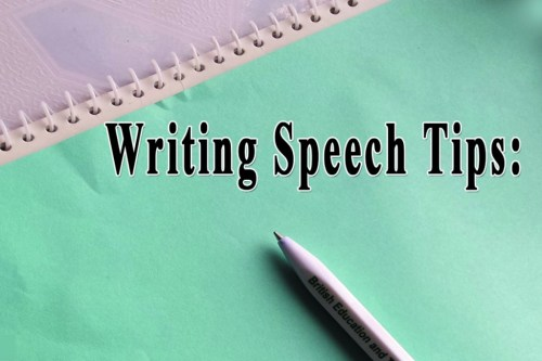 Five Tips For Writing the Best Speech in English