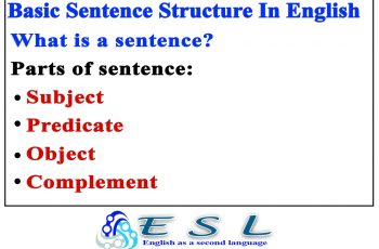 basic Sentence Structure