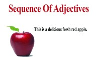 Sequence Of Adjectives