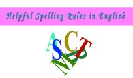 Spelling Rules In English