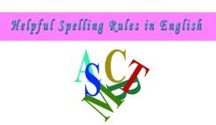 Basic Spelling Rules For English Learners