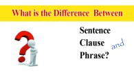 What is the difference between sentence, clause and phrase?