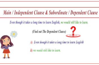 independent and dependent clauses