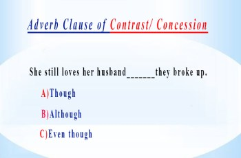 Adverb Clause of Contrast