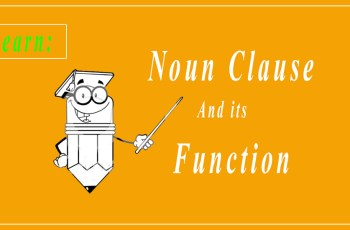 Function of Noun Clause
