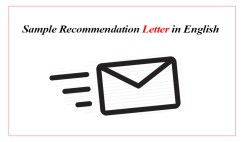 Sample Recommendation Letters in English