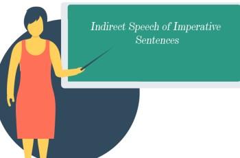 Indirect Speech of Imperative Sentences