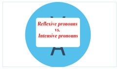 Reflexive pronouns vs. Intensive pronouns