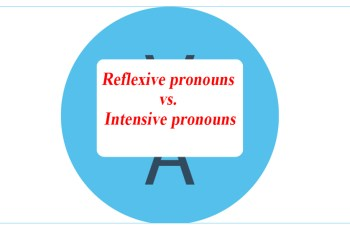 Reflexive pronouns vs. Intensive pronouns