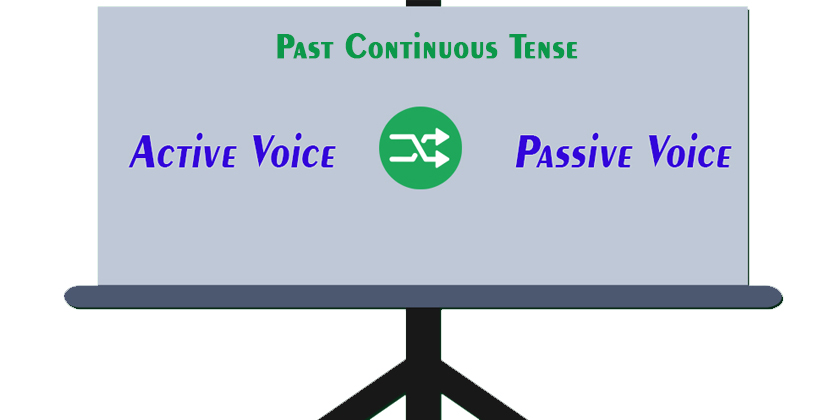 Active and Passive Voice of Past Continuous Tense - Learn ESL