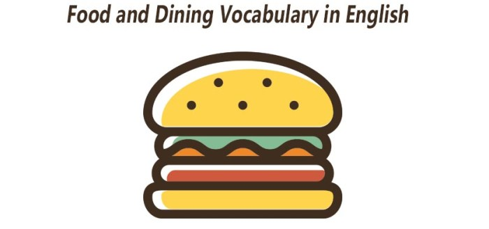 Food and Dining Vocabulary in English