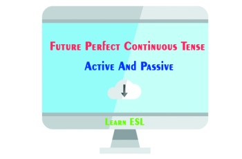 Future Perfect Continuous Tense Active And Passive