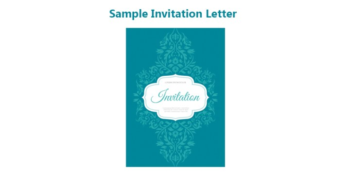 Sample Invitation Letter