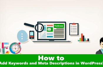 Add Keywords, Meta Description WordPress