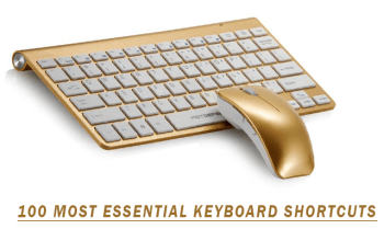 100 Most Essential Keyboard Shortcuts