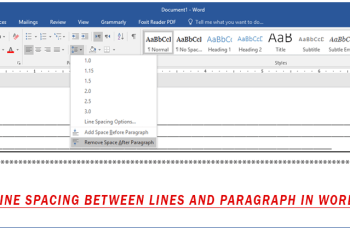 Adjust Line Spacing Between Lines and Paragraph in Word