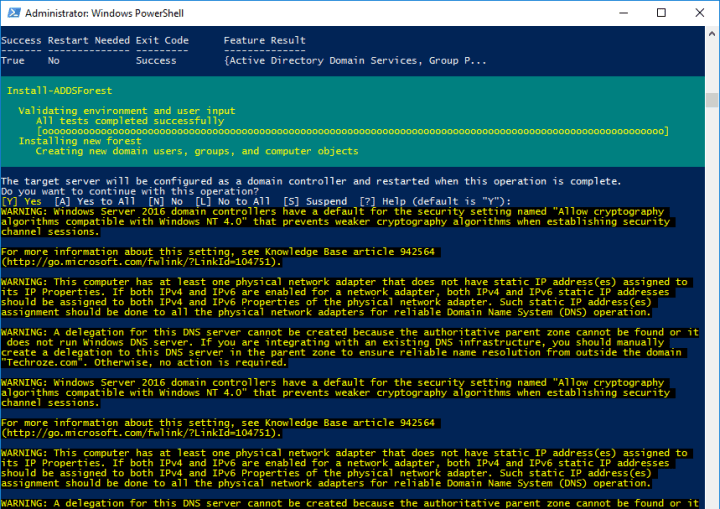 Manage and Configure Active Directory via PowerShell