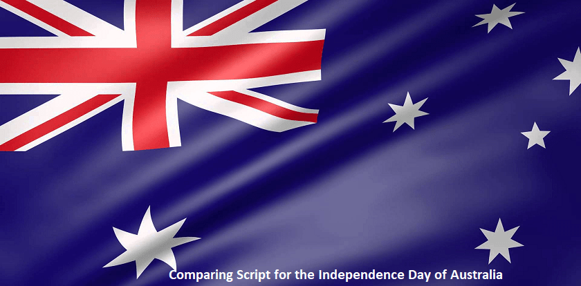 Comparing script for the Independence Day of Australia