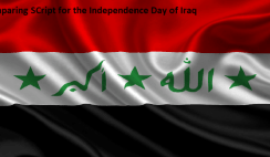 Comparing Script for the Independence Day of Iraq