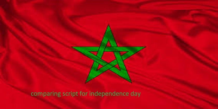 Comparing Script for Independence Day of Morocco
