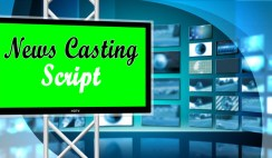 News Casting Script for Reporters