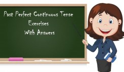 Past Perfect Continuous Tense Exercises With Answers