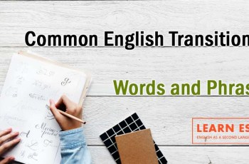Common English Transition Words and Phrases