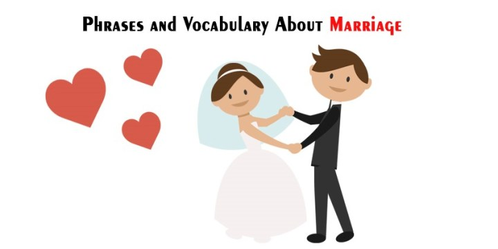 English Phrases and Vocabulary Relating to Marriage