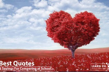 Best Quotes & Sayings For Compering at School or College Program