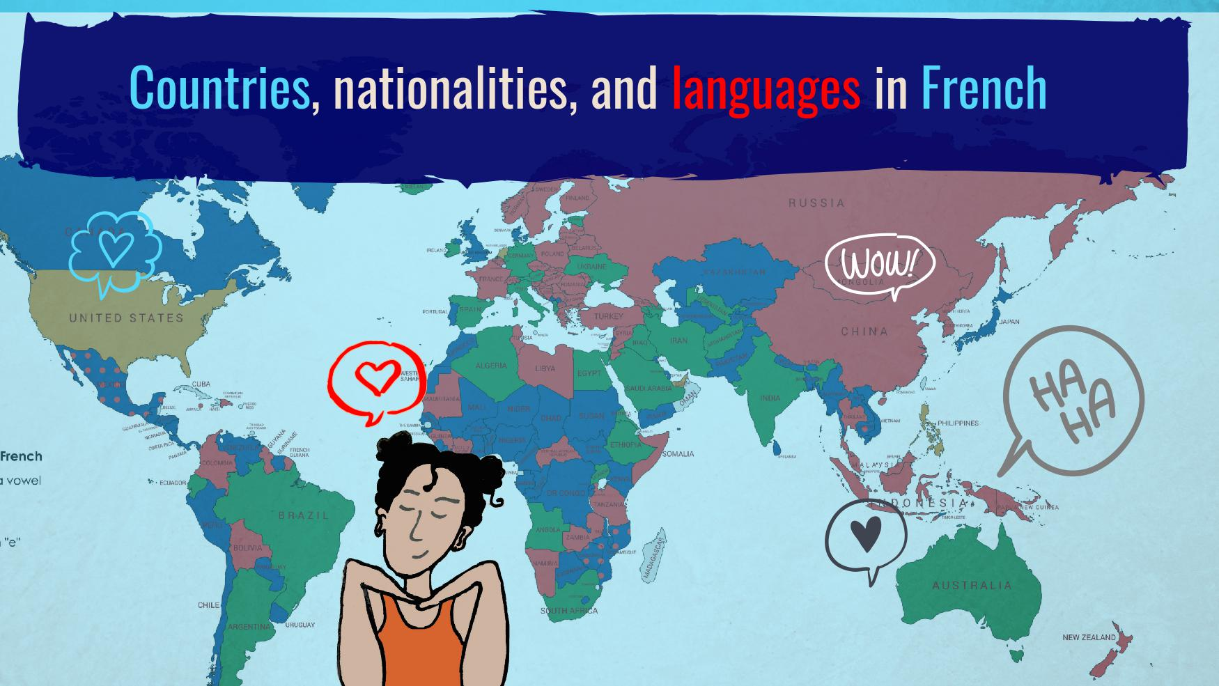 Countries Nationalities And Languages In French