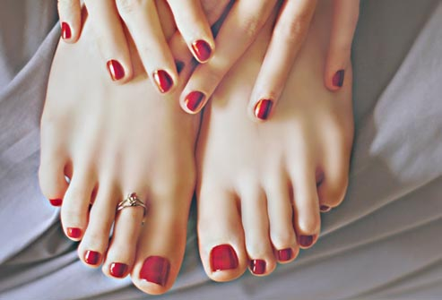 painting your toenails