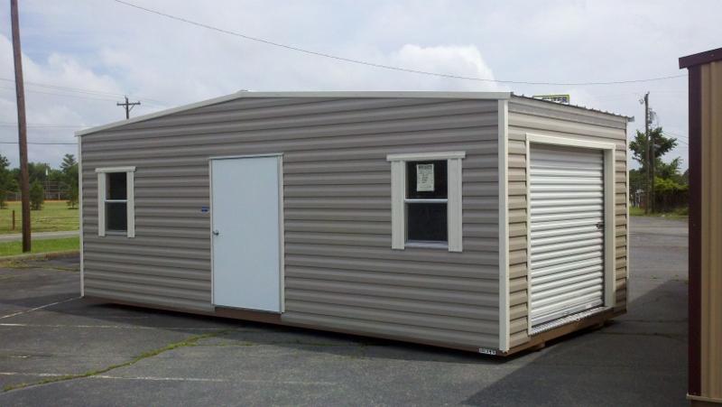 12x24-aluminum-siding-big-roll-door-high-wall-2-windows-includes-floor-1-light
